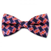 Union Jack Flag Pre-Tied Bow Tie | Novelty Bow Tie - Gents ...